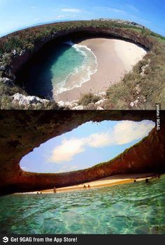 MUST get here! Hidden Beach, Marieta Islands, #Mexico #travel