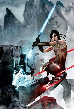 Star Wars Old Republic. Lost Suns 1. Dark Horse Comics. Bastila Shan. Jedi Dual-Bladed Lightsaber.