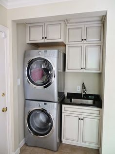 Main floor updated laundry room.