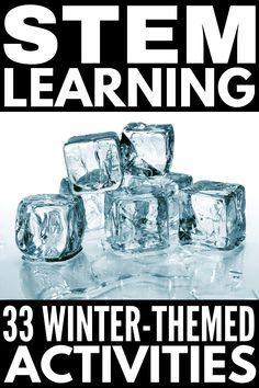 Cold Weather Ideas: 33 Winter STEM Activities for Kids of All Ages Winter Stem Activities For Kids, Stem For Kids, Weather Experiments, Kid Experiments, Weather Crafts, Steam Learning, Cold Weather, Middle School, High School