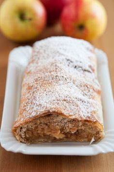 Cinnamon Apple Strudel - Apple strudel is a wonderful Austrian dessert that is a perfect marriage of all things sweet and tart. Sometimes American adaptations can be a little too sweet, but the original really isn't cloying—it's about slightly enhancing the flavor of the apples, without overdoing it.