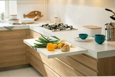 Kitchen Design Idea - Pull-Out Counters (10 Pictures) // When you're working with a small kitchen, any and all extra work space is a great addition.