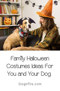 These Family Halloween Costumes For You And Your Dog are the perfect way to incorporate your dog into a fun costume theme this year.