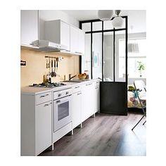 FYNDIG Unterschrank mit Tür und Schublade - weiß/weiß - IKEA