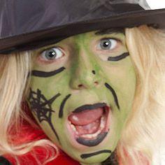 Trucco del viso per Halloween ispirato alle streghe
