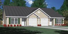 House Plan D1261-B DUPLEX 1261-B elevation