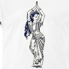 Indian tradition dance pose on T shirt & mug @  signnfit