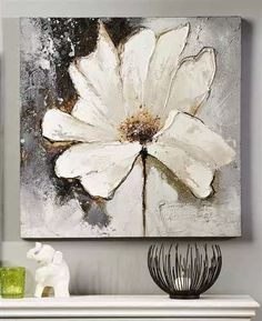 Giftcraft - white flower oil painting on canvas flower painting abstract, abstract flowers, oil Oil Painting Flowers, Abstract Flowers, Oil Painting On Canvas, Painting & Drawing, Canvas Art, Floral Paintings, Painting Abstract, Painting Clouds, Flower Oil