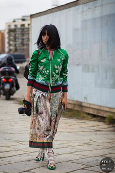 Margaret Zhang Street Style Street Fashion Streetsnaps by STYLEDUMONDE Street Style Fashion Photography