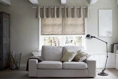 Complete your Osler 6301 Roman Shade with a matching Valance in fabric 6300 Faro from the NEW #ComfortCollection2.