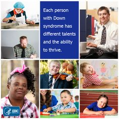 Although all people with Down syndrome may share similar characteristics, each individual is unique and has different abilities. To learn what it's like to live with this condition, read these stories from people living with Down syndrome.