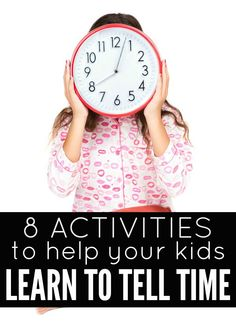 Whether your kids are just reaching the age where they are ready to learn to tell time, or they are struggling to grasp the concept, these fun activities are just what you need to make the learning process fun and engaging!