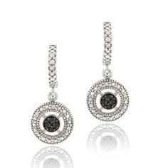 Shop for DB Designs Sterling Silver 1/10ct TDW Black Diamond Dangle Earrings. Free Shipping on orders over $45 at Overstock.com - Your Online Jewelry Destination! Get 5% in rewards with Club O!