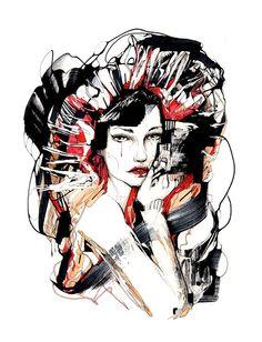 Brash  Original Edit Evening artwork by editevening on Etsy, $170.00