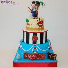 Piratas - Terra do Nunca - Grãos de Açúcar - Bolos decorados - Cake Design