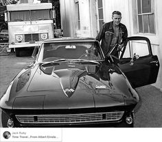 "Steve McQueen...1966 Chevrolet Corvette Stingray 427.....""Muncie"" four speed transmission and Chevrolet's ""Positraction"" limited- slip differential... plus 465lbs/ft of earth moving torque at 4000 rpm..........."