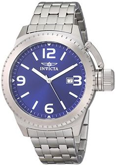 Invicta Mens 0988 Corduba Blue Dial Stainless Steel Watch *** You can get more details by clicking on the image.