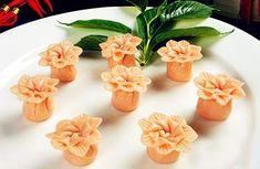 Flower shaped dumplings