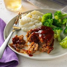 Mini Barbecue Meat Loaves Recipe -I gave classic meat loaf a tasty twist by adding barbecue sauce. My kids usually get bored with beef entrees, but they keep asking for this dish. It's become a dinner staple at my house. —Vicki Smith, Okeechobee, Florida