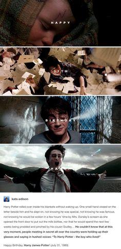 Happy birthday, Harry Potter! July 31st