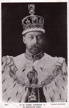 H.M King George V , with the imperial state Crown
