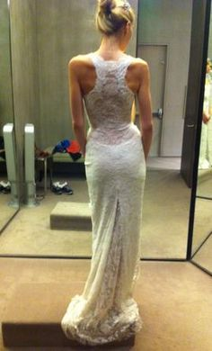 Racerback Monique Lhuillier Wedding Dress - this is what I want ...