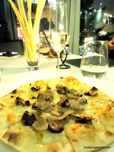Italian Pizza with Fois Gras and Black Summer Truffle