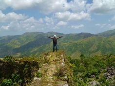 Feeling on top of the world at Les Cayes, South of Haiti.