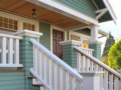 Gorgeous Home Exterior: Blues, Whites & Browns