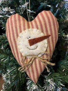 Items similar to Snowman Ornament - Christmas Ornament - Christmas Decorations - Primitive Snowman - Rustic Christmas - Primitive Christmas - Farmhouse on Etsy Sewn Christmas Ornaments, Christmas Sewing, Snowman Ornaments, Felt Christmas, Christmas Snowman, Rustic Christmas, Handmade Christmas, Christmas Wreaths, Christmas Decorations