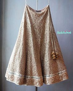Gold lehenga is perfect for a big Reception party!  Found at JADE's M&K Couture Studio