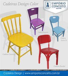 #FicaDica para quem quer fazer sucesso na decoração, Cadeiras Coloridas uma tendência que veio com tudo e para ficar.   Veja mais opções de cores: http://www.emporioconceito.com.br/bar-e-restaurantes/cadeiras-coloridas.html