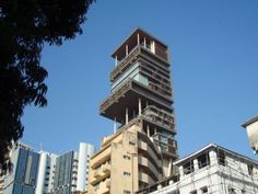 Antilla, Mumbai, India: $1,000,000,000.00 billion  It's new house of Mukesh Ambani or Reliance Industries. It's a 27 floors building with 40,000 square feet in total land space. The building is 570 feet tall with a total of 400,000 square feet of interior space. The building has a dedicated 6 stories for car parking alone to park 168 cars collection of Ambani. Inside the house you will find nine elevators with lot of lounge and personal gym in each floor. Thi