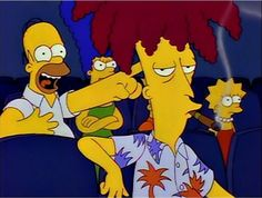 The Simpsons - Sideshow Bob at the theater The Simpsons, Simpsons Episodes, Homer Simpson, Lisa Simpson, Goat Cartoon, Picture Mix, Cape Fear, Tyler The Creator, Futurama