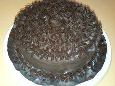 Tarta de chocolate con ganache de chocolate
