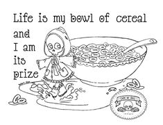 Halloween Coloring Pages, Adult Coloring Book Pages, Coloring Books, Hama Beads, Cereal Killer, Bowl Of Cereal, Colour Images, Favorite Color, Deviantart