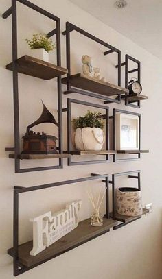 68 amazing decorating shelves 8 tips for decorating 51 68 am – Wall Products Welded Furniture, Home Decor Furniture, Diy Home Decor, Furniture Design, Diy Decoration, Decor Ideas, Industrial Furniture, Industrial Wall Shelves, Wall Shelving