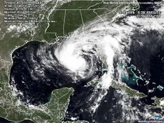 Tropical Storm Isaac : Storm-Centered Satellite Image | Weather Underground     August 27, 2012