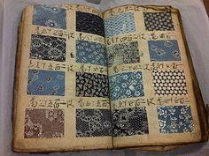 Antique Japanese kimono fabric pattern book