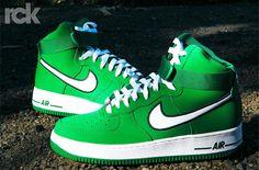 Nike Air Force 1 High-Pine Green-White