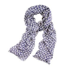 Have a scarf similar to this in cotton with a bit of orange in the pattern.
