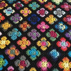Ravelry: Free crochet pattern for Retro Vibe Square by Johanna Lindahl