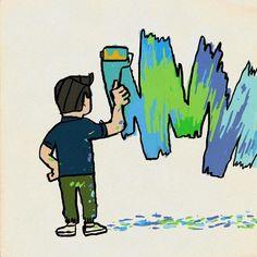 #今日も壁画書き #イラスト