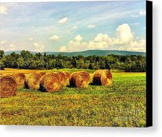 Beautiful Bales Canvas Print by Onedayoneimage Photography.  All canvas prints are professionally printed, assembled, and shipped within 3 - 4 business days and delivered ready-to-hang on your wall. Choose from multiple print sizes, border colors, and canvas materials.