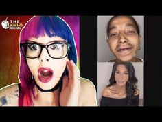 OPEN ME↓ Hope you liked this reaction VIDEO of the awkwardunicorn. this transformations to these lady's makeup was crazy. don't miss out,leav. Makeup Transformation, Halloween Face Makeup, Channel, Lady, Youtube, Youtubers, Youtube Movies