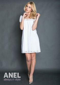 We're in love with this little white dress! ♥