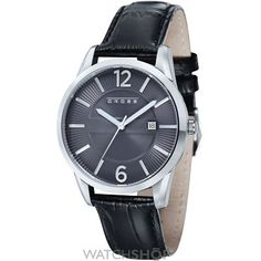 CR8002-03 Cheap Watches, Watches For Men, Black Suede, Black Leather, Watch Crown, Mens Crosses, Gents Watches, Stainless Steel Case, Gotham