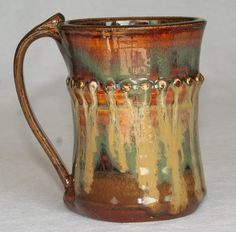 Pottery mug handthrown stoneware by DrostePottery on Etsy, $17.00