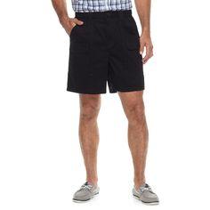 Men's Croft & Barrow® Classic-Fit Side Elastic Cargo Shorts, Size: 42, Black