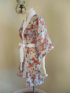 Handmade  womens Kimono Robe Cotton Vintage Style by stilettoRANCH